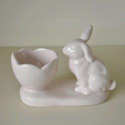 Porta Uovo con coniglio Rosa