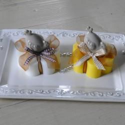 Sapone decorato con gallinella