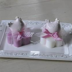 Sapone decorato con Gallinella Rosa