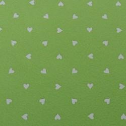 """Verde chiaro """"Cuori"""" Panna"""