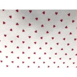 feltro stampato cuori rossi
