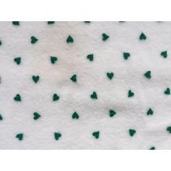 Pile Crema Cuori Verdi
