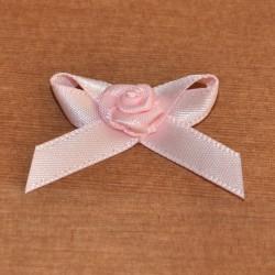 Fiocco con rosellina rosa
