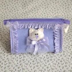 Pochette Triangolare viso gattino - FEPOH-04