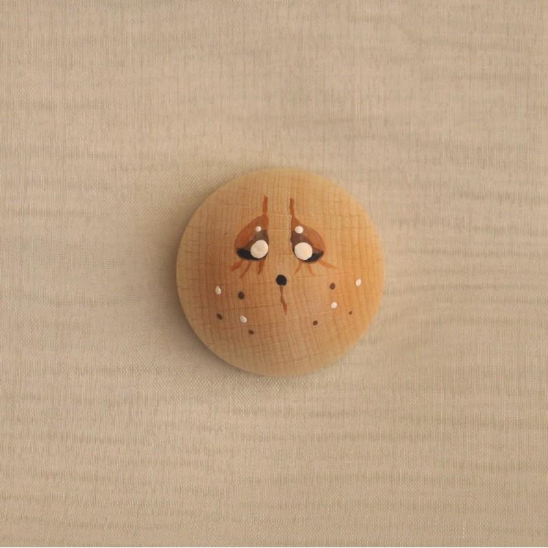 Semisfera di Legno piccola Decorata-DECLEG-SF01/A