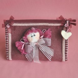 Pochette Triangolare viso bambolina